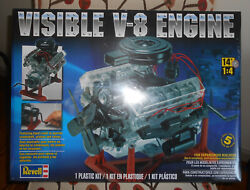 Revell 85-8883 Visible V8 Engine Model Kit-nib-14 Scale New And Sealed