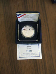 Uncirculated Proof Silver Dollar Boy Scouts Scout Commemorative 2010 Box Coin