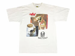 Vintage Taco Bell Chihuahua Shirt 90s Want Some Taco Bell Dog Fast Food V9