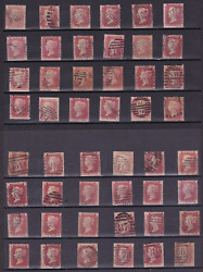 Multilisting Of Sg43 Penny Reds Plate 74 Gb Victorian Stamps Other Letters Avail