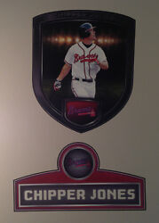Chipper Jones Fathead Player Shield 23x20 And Name Sign 25.5x13 Mlb Graphics