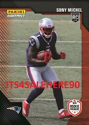 2018 Panini Instant Rookie Premiere Rps Sony Michel Patriots Rc Pr 1/242 Made