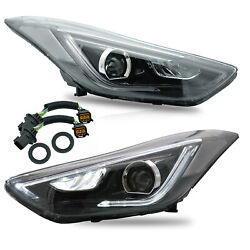 Free Shipping To Pr For Elantra 11-16 Sedan 13-14 Coupe Led Headlights W/drl
