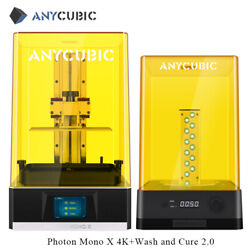 Anycubic Photon Mono X Sla Lcd 3d Printer 192x120x245mm With Wash And Cure 2.0 Kit