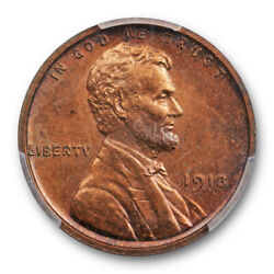 1913 1c Proof Lincoln Wheat Cent Pcgs Pr 62 Bn Looks Red Brown Low Mintage
