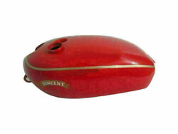 Red Painted Aluminium Gas Fuel Petrol Tank Fit For Vincent Hrd