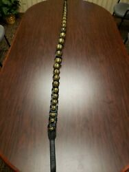 Vintage Brass Sleigh Bells 29 Petal Bells Numbered And Graduated 1-15 On Each Side