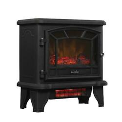 Infrared Quartz Electric Fireplace Stove Heater W/ Remote Control Free Standing