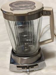 Rare Vintage General Electric Ge Deluxe Blender Mo Bl-2 Chrome Plated Base Works