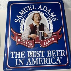 Samuel Adams The Best Beer In America Tin Sign Pub Man Cave Wall Collectible