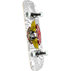 Powell Peralta Skateboard Complete Winged Ripper Silver 8.0 X 31.45