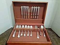 Vintage 35 Pc Towle Sterling Silver Set Chippendale Pattern For 8