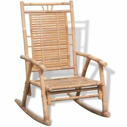 Vintage Rocking Chair Bamboo Living Room Indoor Outdoor Furniture Relaxing Seat