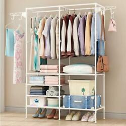 Heavy Duty Clothes Rail Rack Garment Hanging Display Stand Shoe Storage Hq