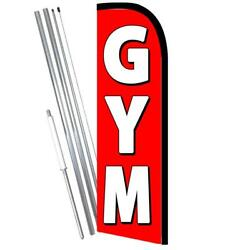 Gym Red/white Windless-style Feather Flag Bundle 14' Or Replacement Flag Only