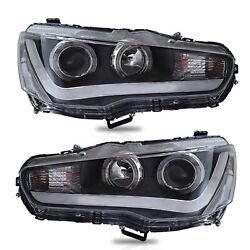 Customized Led Headlights With Drl Dual Beam For 2008-2017 Mitsubishi Lancer