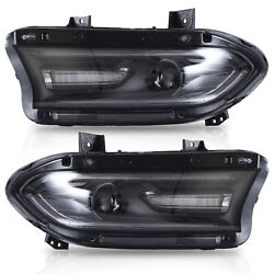 Led Multicolor Headlights W/drl For Charger 2015-2020