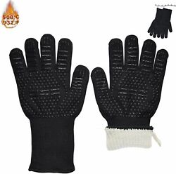Heat Resistant Gloves Bbq Grill Premium Insulated Durable Fireproof For