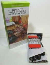 Food Gloves And Meat Claws Charcoal Companion Insulated Set Bbq Grilling New Box