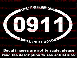 Usmc 0911 Drill Instructor Sticker Made In The Usa Us Seller Marine Corps