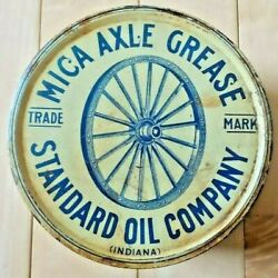 Vintage Original Standard Oil Company Mica Axle Grease One Pound Can - Good