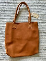 Wood And Faulk Portland Designer Handmade Brown Leather Slouch Purse Tote Bag