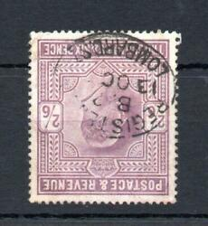 Edward Vii 2/6 Chalky Paper Watermark Inverted Sg 261wi Cat Andpound4250