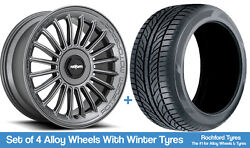 Rotiform Winter Alloy Wheels And Snow Tyres 19 For Jeep Cherokee [mk4] 08-13