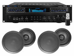 Rx113 Home Theater Amplifier Receiver+4 6.5 Black Ceiling Speakers