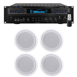 Technical Pro Rx113 1500w Home Theater Amplifier Receiver+4 8 Ceiling Speakers