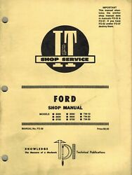 Ford 8000 To Tw30 Series Tractor I+t Shop Manual Fo-39