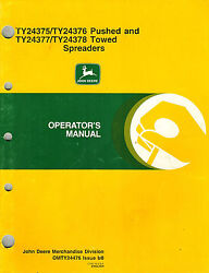 John Deere Pushed And Towed Spreaders Operator's Manual New