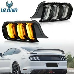 Free Shipping To Pr For 15-20 Mustang Sequential Clear Full Led 5modes Taillight