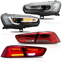 Free Shipping To Pr For 08-17 Lancer Spray Lacquer Headlights+red Taillights