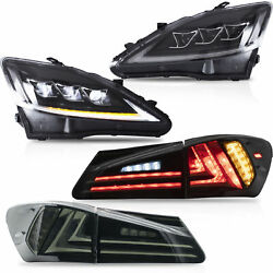 Free Shipping To Pr For 06-13 Is250/350 08-14 Is F Headlight+smoke Taillight