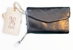 Hobo Lacy Leather Wallet Black NWT $39.99