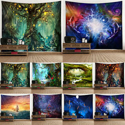 3D Tapestry Bedspread Hippie Gypsy Psychedelic Room Wall Hanging Decorations