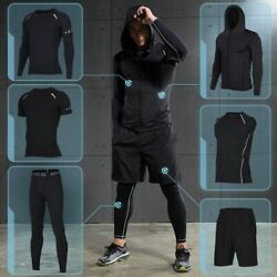 Menand039s Compression Sportswear Suits Gym Tights Training Clothes Workout Jogging