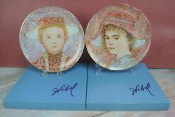 Edna Hibel Collector Plates Giselle And Gerard A Tribute To All Children