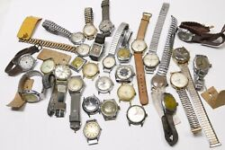 Vintage Gents Mens Watches - Lot Of 29 Watches For Parts, Scrap Or Repair