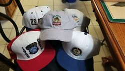 Lot Of 5  Us Open Golf Hats 1985,19972 , 20012 And 2016 Used