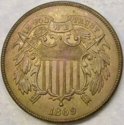 1869/18 Two Cent Piece Extremely Rare Fs-301 Mpd—rpd Gem++ Pcgs/ngc Pop@19 Total