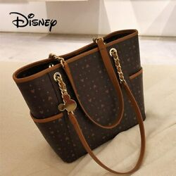 Mickey Mouse Classic Bag Pu Leather Women Shoulder Bag Ladies Crossbody Tote Bag