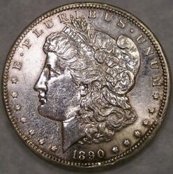 1890 Cc Morgan Silver Dollar Tailbar R.5 Vam 4 Rare Appealing Beautiful Cleaned