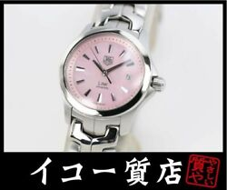 Tag Heuer Rare Models Link Wjf1312 Pink Shell Dial Womenand039s Watch Quartz 27mm