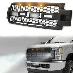 For 2019 Ford F250 Grille Super Duty F350 Fit 2017 2018 F450 Raptor Style Oem