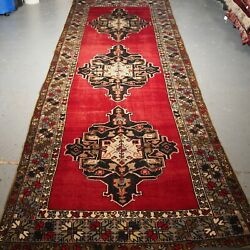 Old Turkish Runner Nigde Region Large Size Country House Look Circa 1920.