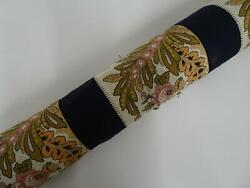 Les Olivades Fabric 5 Yards Bandes Campano Black Floral Print 100 Cotton 59 W