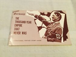 Collectible 1971 Hitler's Germany Int'l Postage Stamp Album, Unused
