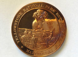 1970s Franklin Mint Yellowstone National Park Proof Bronze Medal A2638